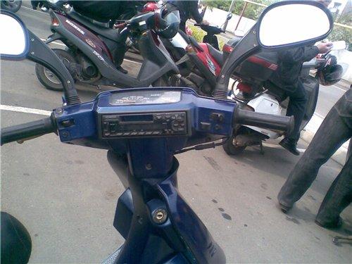 магнитола на скутере