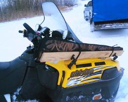 Крепление ружья на снегоход