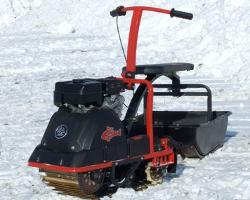 Мотобуксировщик Ерш на снегу