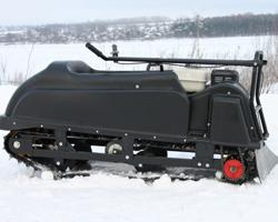 Мотобуксировщик «Райда» в снегу
