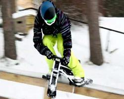 Джиббинг на снегокате