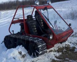 Самодельный гусеничный снегоход