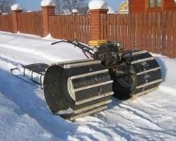 Снегоход с большими колесами из мотоблока