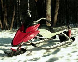 Электроснегокат на снегу
