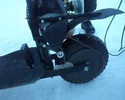 Шипованое колесо-движитель на мотосанях