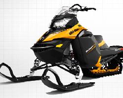 Черный с желтым снегоход Ski-Doo