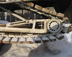 Самодельная гусеница с использованием деревянных планок