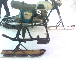 "Снегоход из мотоцикла ""Иж"""