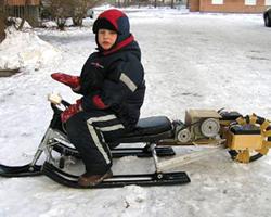 Снегокат с колесом