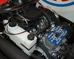 Двигатель, установленный на снегоход